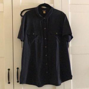 Eddie Bauer Black Short Sleeve Blouse - XXL
